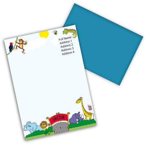 Personalised Zoo Stationery Set